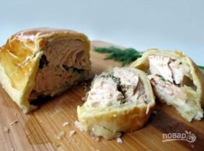 Пирог с лососем - фото шаг 4