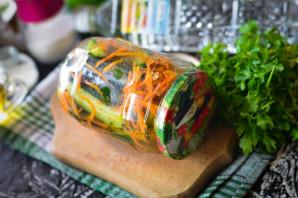 Огурцы по-корейски с морковью - фото шаг 7