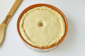 Пирог с рисом, изюмом и курагой - фото шаг 11