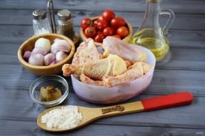 Жареная курица с луком-шалот и помидорами - фото шаг 1