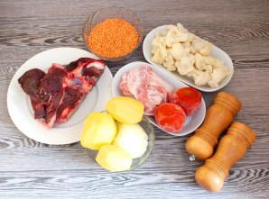 Суп из чечевицы с цветной капустой - фото шаг 1