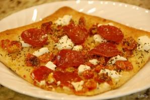 Пицца с томатами и козьим сыром - фото шаг 7