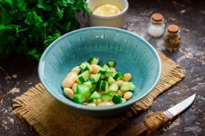 Салат с кальмарами и фасолью - фото шаг 3