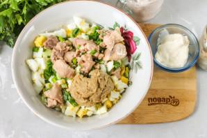 Салат из печени и икры минтая - фото шаг 3