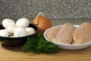 Курица с грибным соусом - фото шаг 1