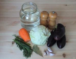 Квашеные баклажаны с капустой - фото шаг 1