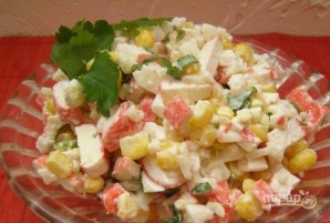 Крабовый салат с рисом и кукурузой - фото шаг 5