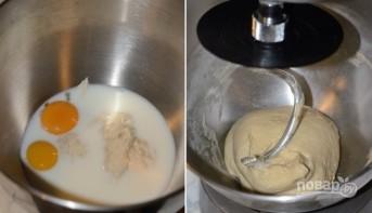 Пирог из пирожкового теста с консервой - фото шаг 2