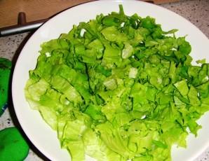 Салат с беконом, курицей и помидорами - фото шаг 2