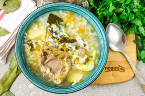 Рисовый суп с уткой - фото шаг 6