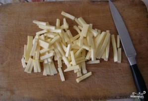 Куриный салат с солеными огурцами - фото шаг 3