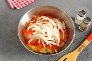 Куриная грудка на овощной подложке - фото шаг 5
