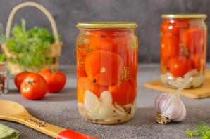 Маринованные помидоры с луком и чесноком на зиму - фото шаг 7