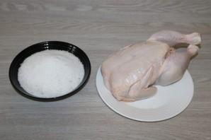 Курица, запечённая на соли в духовке - фото шаг 1