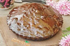 Шоколадный пирог с изюмом - фото шаг 10