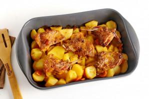 Кролик с картошкой в майонезе в духовке - фото шаг 6