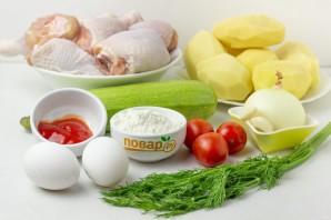 Куриные окорочка с овощами - фото шаг 1
