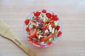 Салат с фасолью и яблоками - фото шаг 8