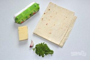 Лаваш с сыром на мангале - фото шаг 1