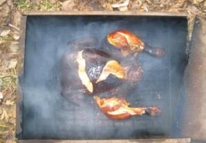 Курица в коптильне - фото шаг 3