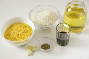 Жареная вермишель с рисом - фото шаг 1