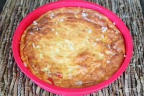 Творожная запеканка с болгарским перцем и кукурузой - фото шаг 8