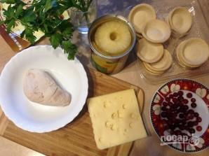 Тарталетки с начинкой из курицы с ананасом - фото шаг 1