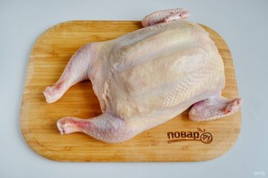 Курица, фаршированная блинами (праздничная) - фото шаг 14