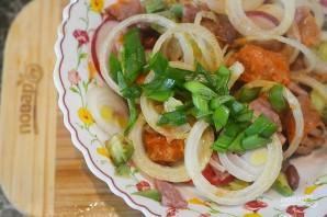 Салат из фасоли, сладкого картофеля и авокадо - фото шаг 8