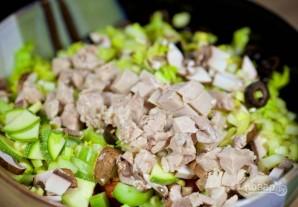 Салат из курицы с грибами - фото шаг 7