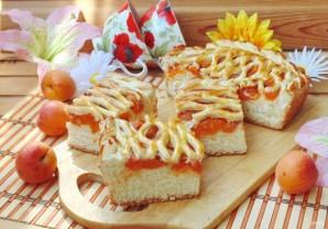 Дрожжевой пирог с абрикосами - фото шаг 11