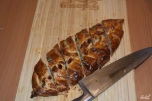 Пирог с курицей из дрожжевого теста - фото шаг 8