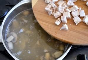 Грибной суп с сырками - фото шаг 10