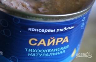 Суп с сайрой - фото шаг 3