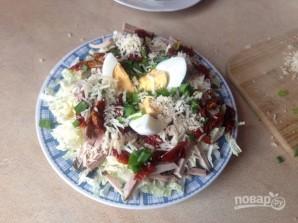 Мясной салат с пекинской капустой - фото шаг 8