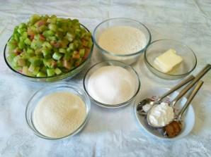 Насыпной пирог с ревенем  - фото шаг 1