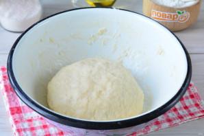 Постный пирог с персиками - фото шаг 6