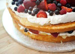 Торт из готовых коржей с фруктами - фото шаг 5