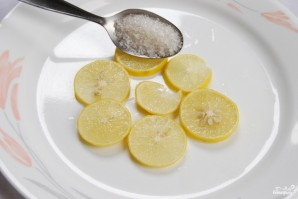 Лимон с сахаром - фото шаг 2