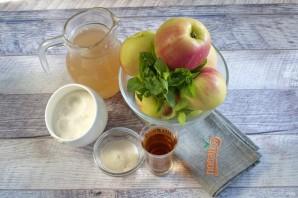 Яблочное желе с мятой - фото шаг 1
