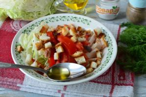 Салат с капустой, ветчиной и сухариками - фото шаг 10