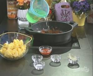 Хрустящий суп из картофеля с сухариками - фото шаг 3