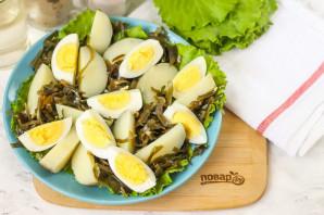 Салат с морской капустой и селедкой - фото шаг 4