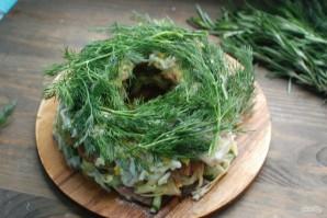 Салат с говядиной и маринованными огурцами - фото шаг 6