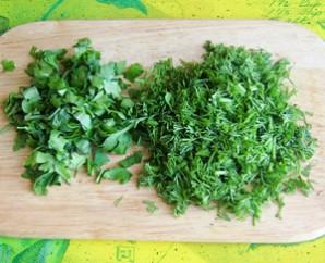 Салат с ветчиной и рисом - фото шаг 3