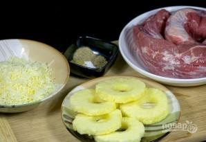 Мясные кармашки с ананасами - фото шаг 1