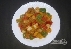 Куриные шашлычки с овощами - фото шаг 4