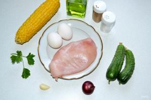 """Салат """"Загадка"""" с яичными блинчиками - фото шаг 1"""