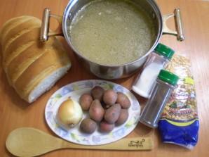 Гороховый суп-пюре с гренками - фото шаг 1