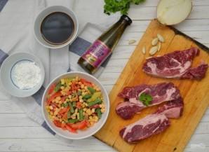 Жареное мясо в устричном соусе - фото шаг 1
